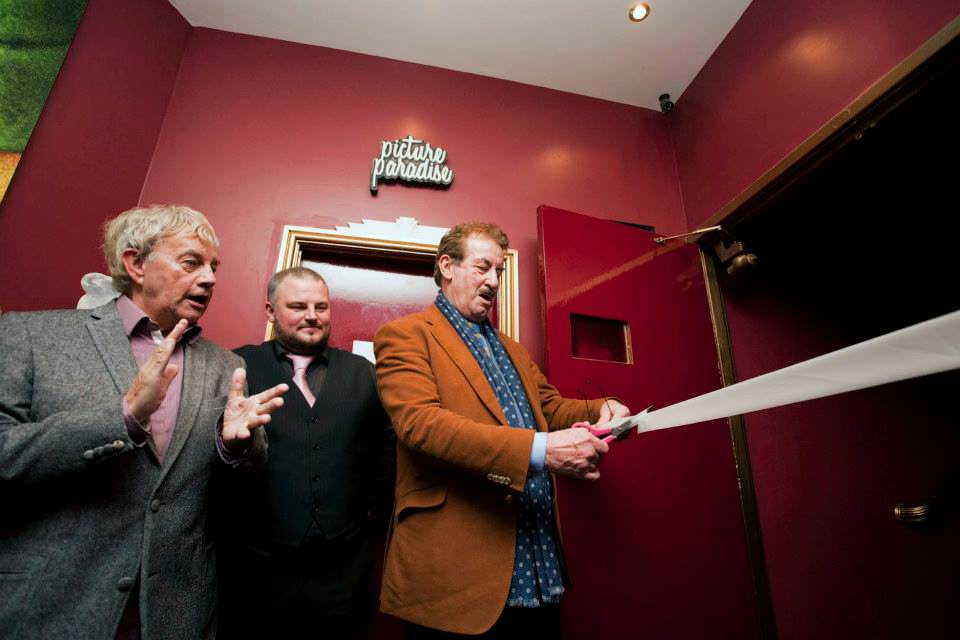 John Challis & Fraser Hines at opening of the Ritz Cinema