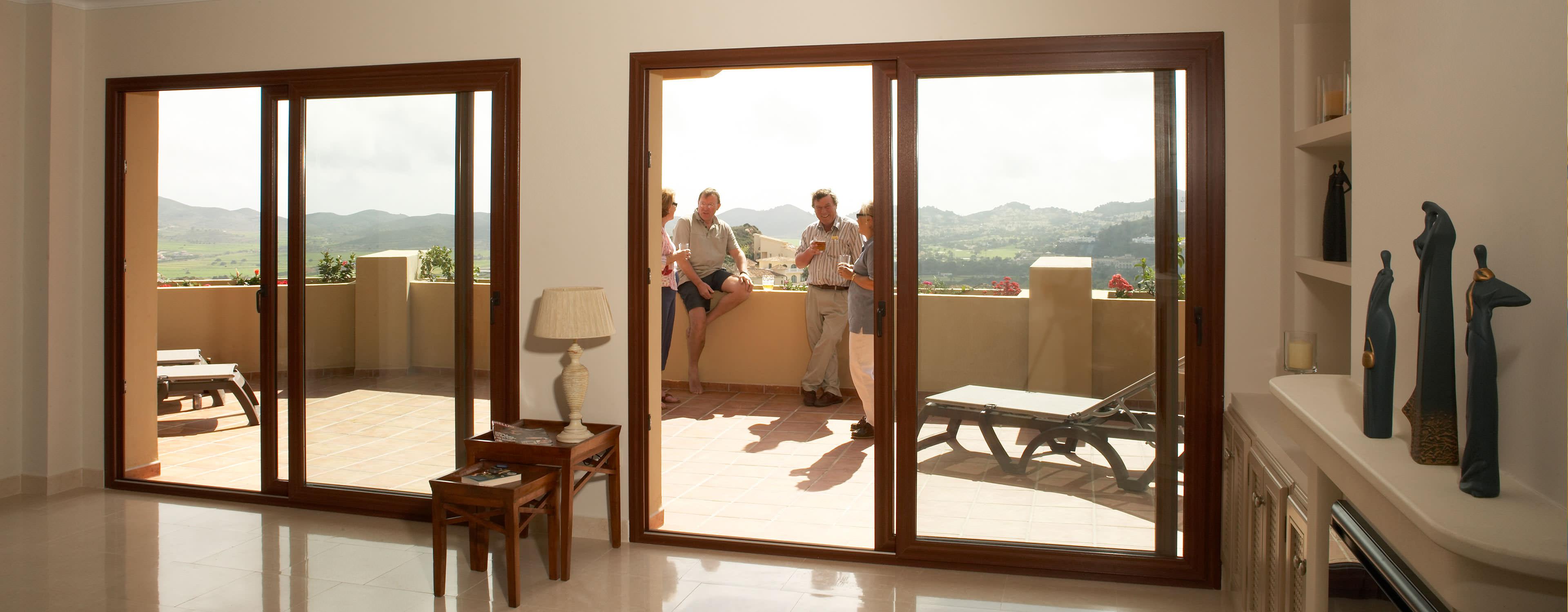 Double glazed doors nottingham front doors composite doors for Patio doors with side windows