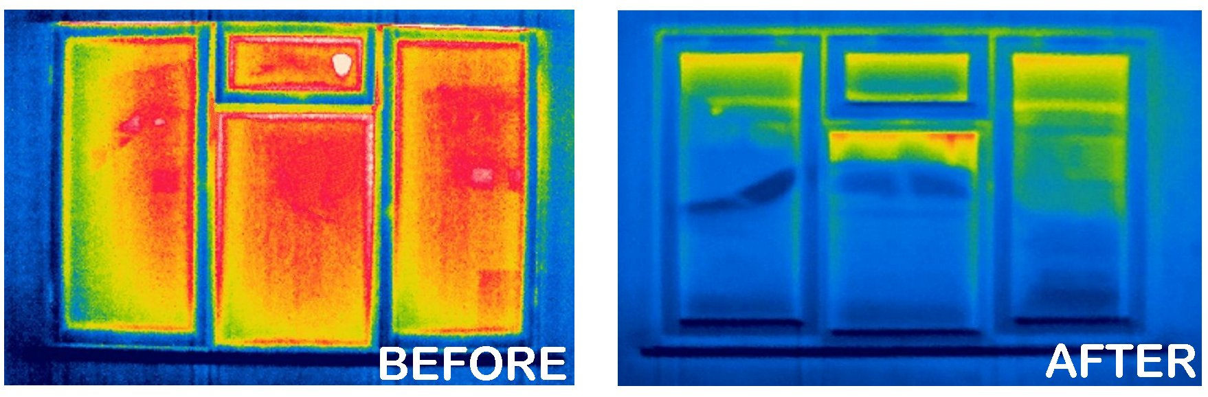 Energy Efficient Windows Before and After