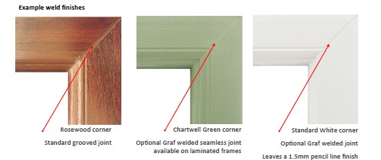 uPVC window profiles weld finishes