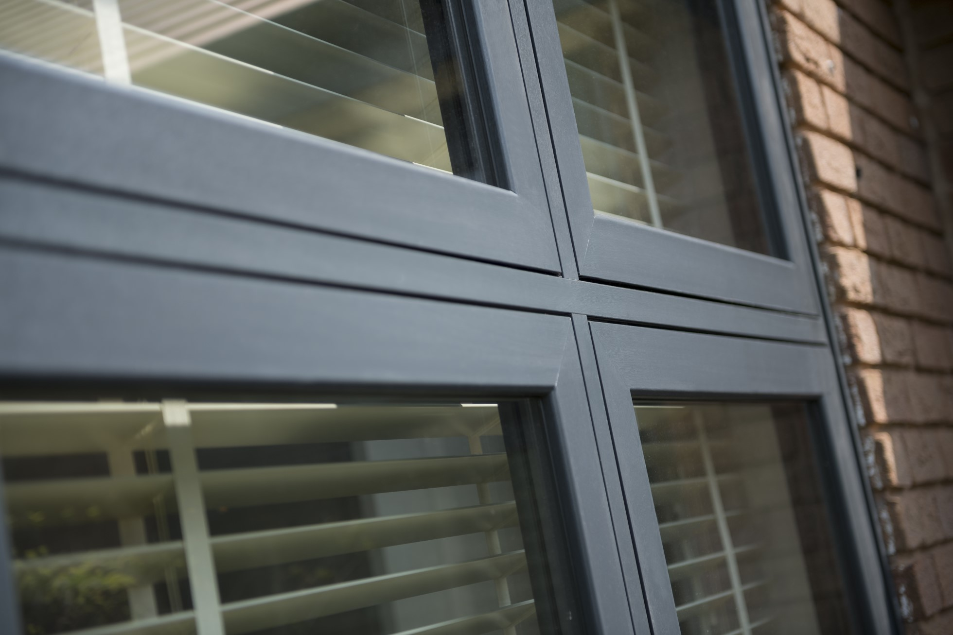 grey upvc flush sash window