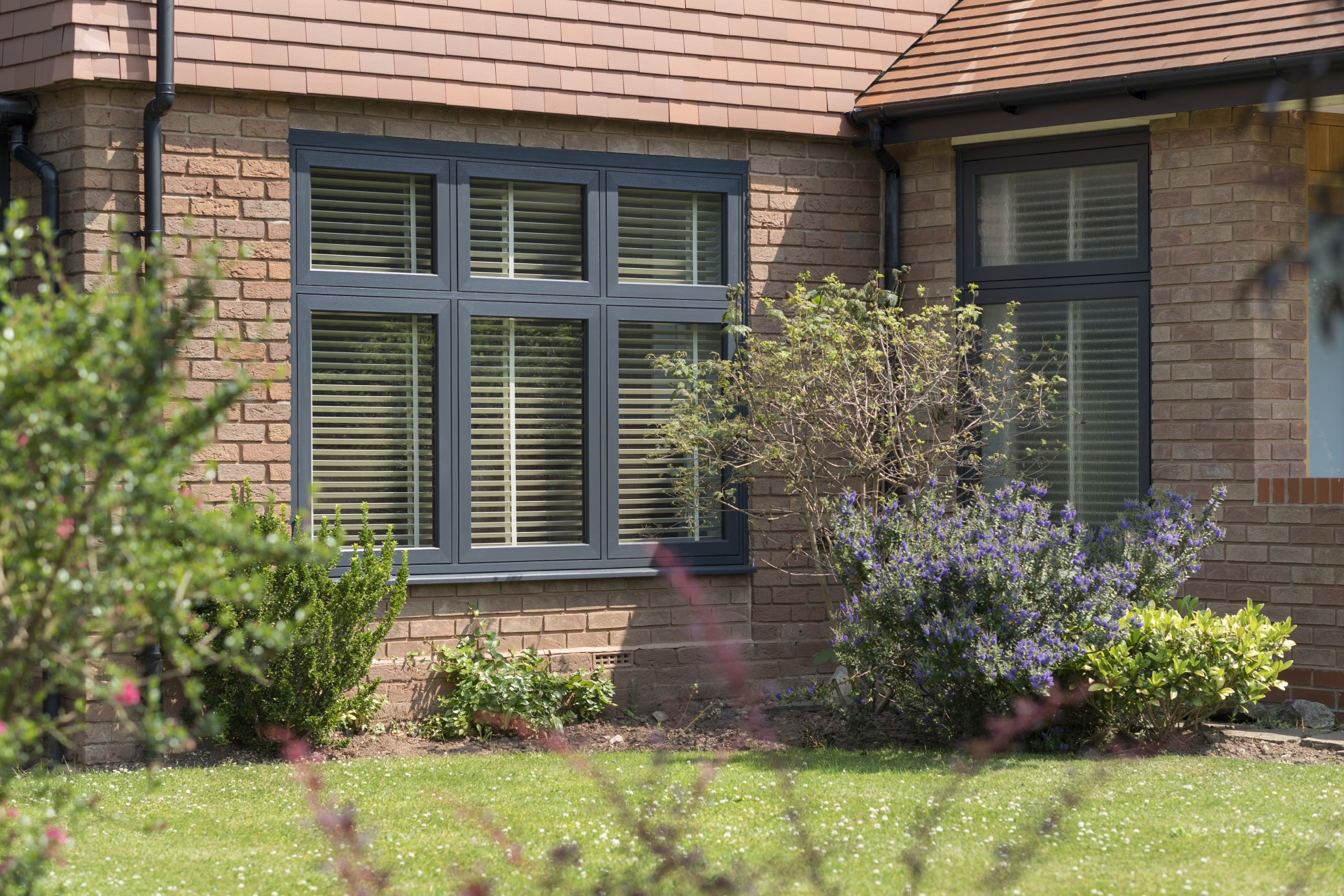 grey upvc flush sash