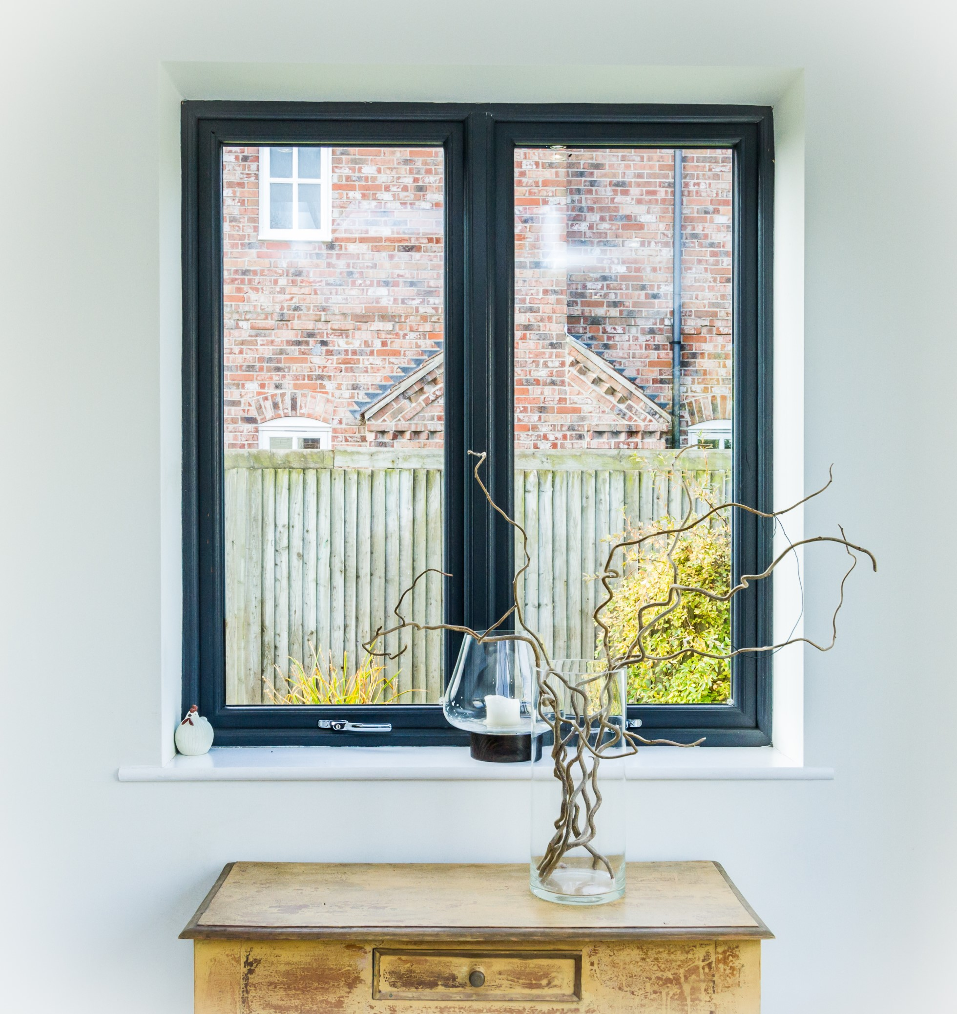 grey upvc sculptured window