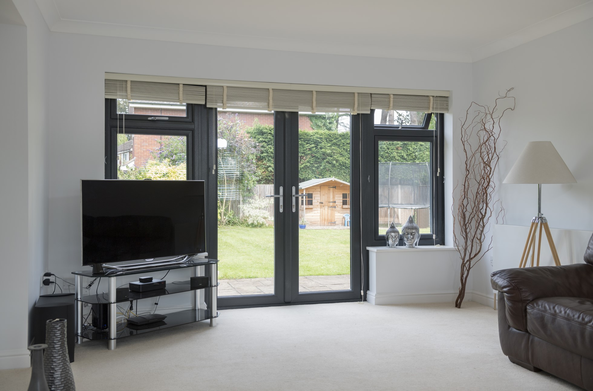 grey upvc windows and doors