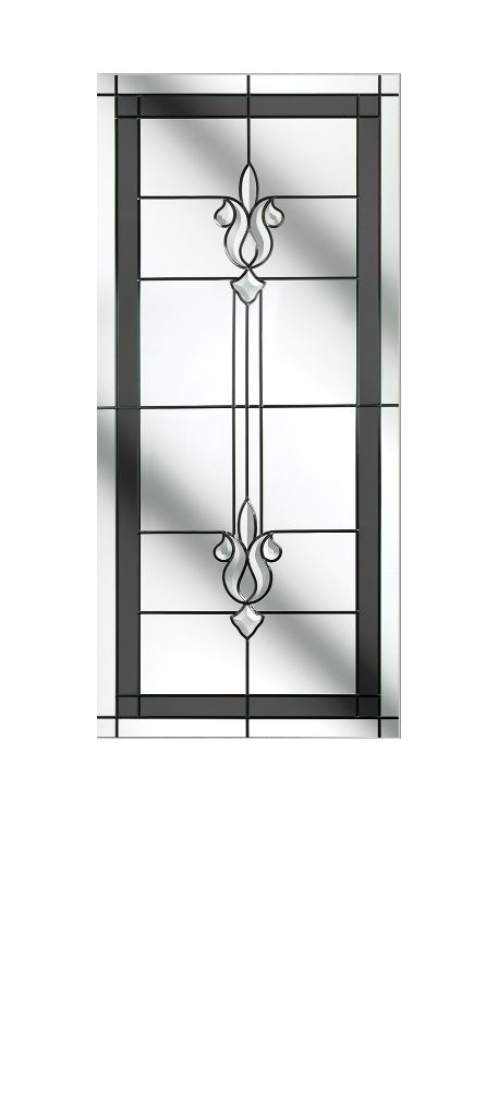 Composite Door Glass- Designer Etch Grey