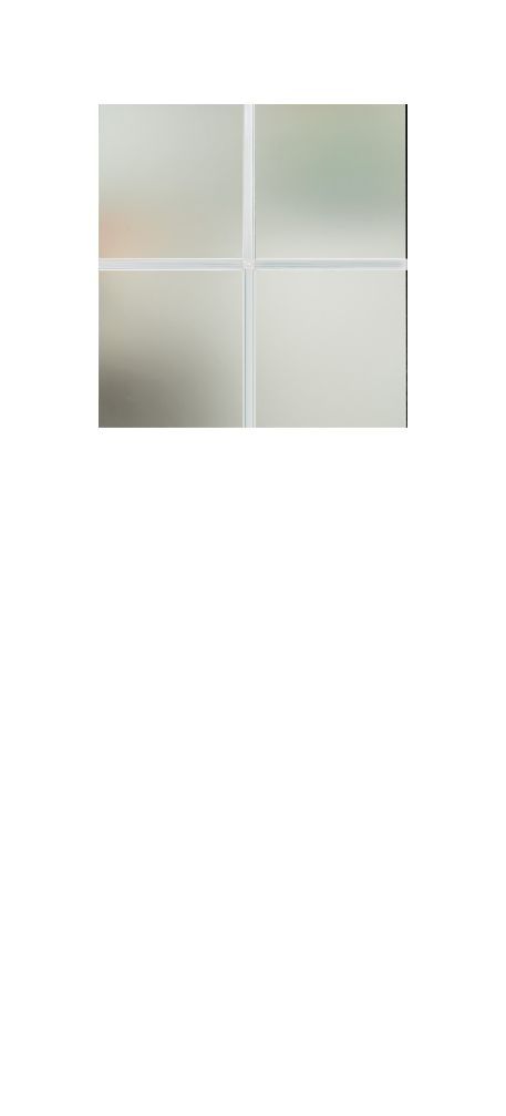 Composite Door Glass- Georgian Bar (white)