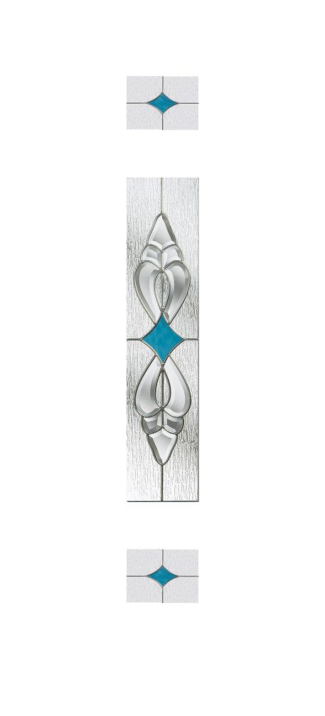 Composite Door Glass- Thorncliffe Blue