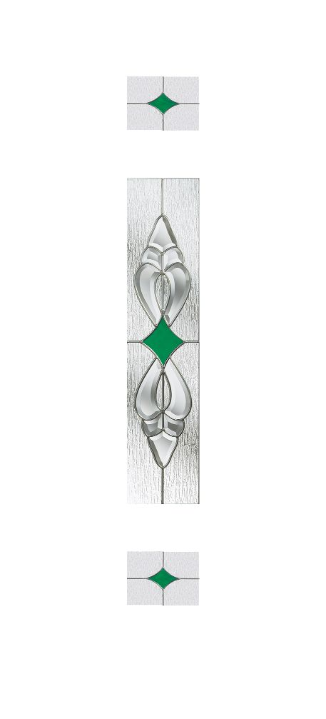 Composite Door Glass- Thorncliffe Green