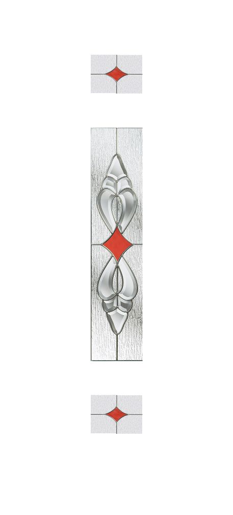 Composite Door Glass- Thorncliffe Red