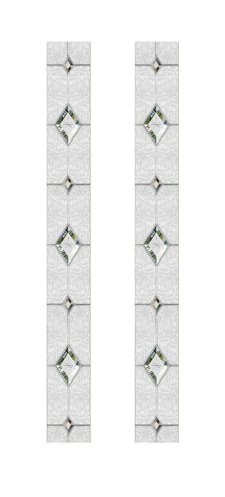 Composite Door Glass- Trio Diamond